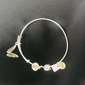Alex & Ani Silver Butterfly Bracelet